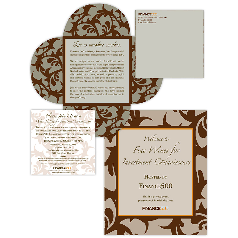 Invitations | Finance 500 Wine Tasting invitation