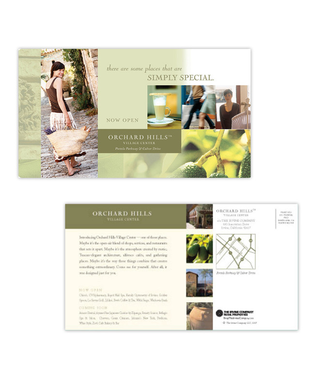 Direct Mail | Capella Solazzo | Orchard Hills postcard