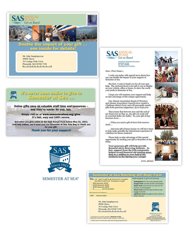 Direct Mail | Semester at Sea Annual Fund direct mail
