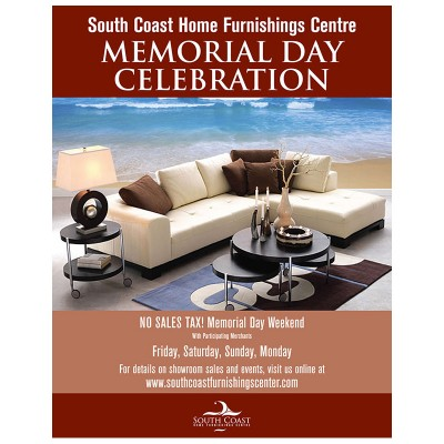 Ad   South Coast Home Furnishings Memorial Day