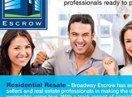 Brochure | Broadway Escrow flyer