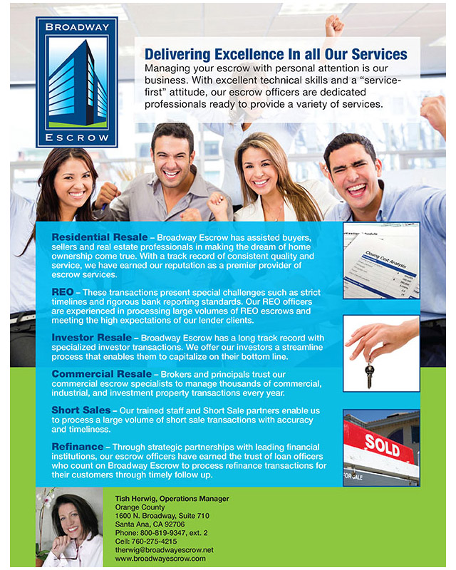 Brochure | Broadway Escrow flyer