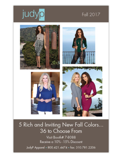 AD   JudyP Apparel Fall 2017 Stylemax
