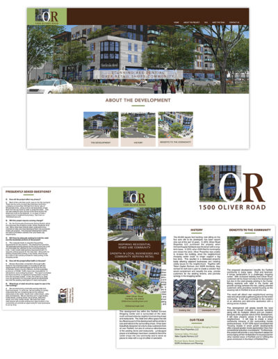 Campaign | Oliver Road Web, brochure, Logo