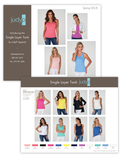 Catalog | JudyP Apparel Single Layer Tank Insert