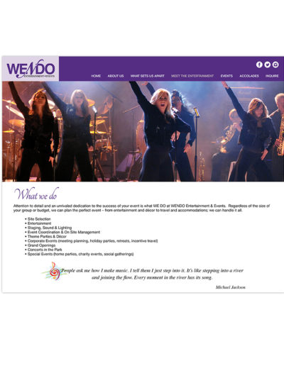 Websites-Wendo-Enternment-Events