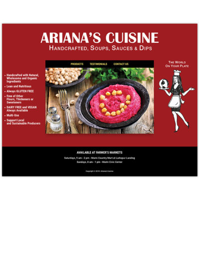 Website | Ariana's Cuisine