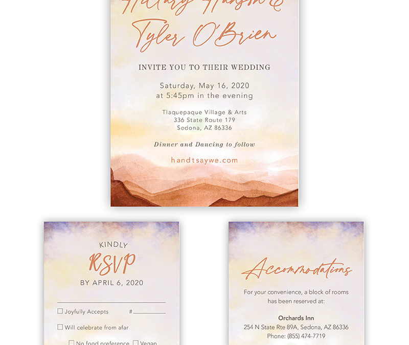 Yes we design Wedding Invitations!